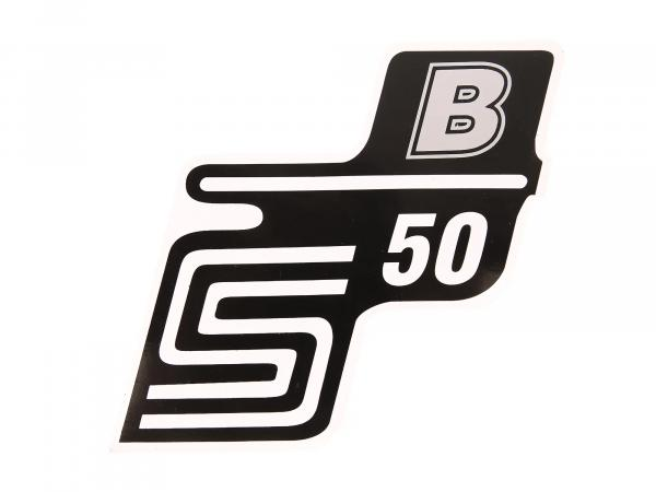 "Adhesive lettering - ""S50 B"" Silver"