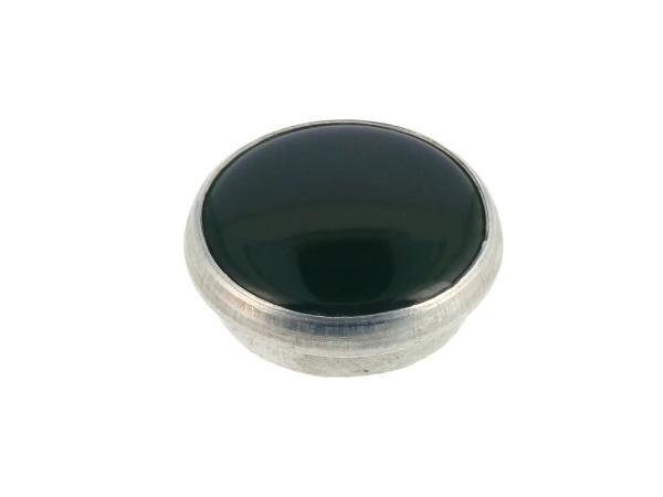 10069615 Kontrollglas, Grün, Alu-Fassung Ø16mm - für Simson KR51/1 Schwalbe, SR4-2 Star, SR4-3 Sperber, SR4-4 Habicht, AWO, MZ RT, BK350, EMWR35 - Bild 1