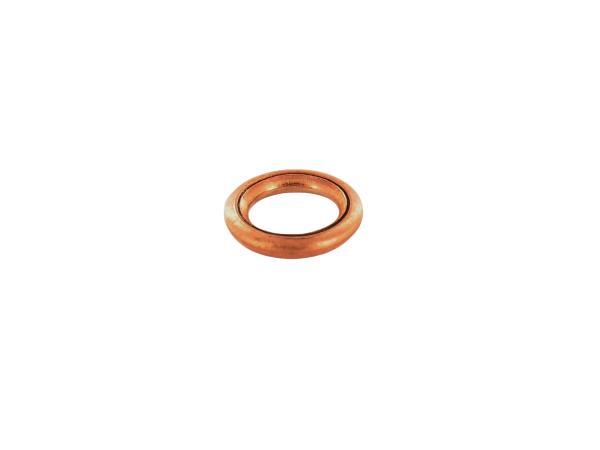 10021079 Fülldichtring Ø 6x10 DIN 7603, Kupfer für Kupplungsdeckel - für Simson S50, SR2, Schwalbe KR51/1 - Bild 1