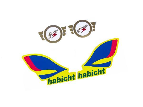 Set: Klebefolie - SIMSON Habicht 2x Tank + 2x Rahmen
