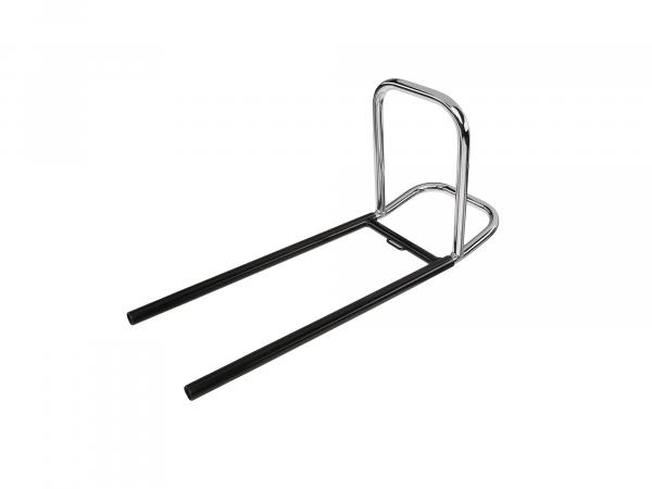 Pocket carrier, rear luggage carrier TS250, TS250/1 - black PPB and chrome - two-piece, fixed.
