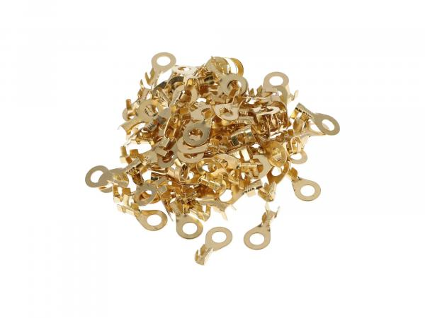Cable lug - SET 100 pieces Ring form ø 6 mm - for cable 2.5 Ring eyelet uninsulated