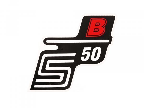 "Adhesive lettering - ""S50 B"" Red"