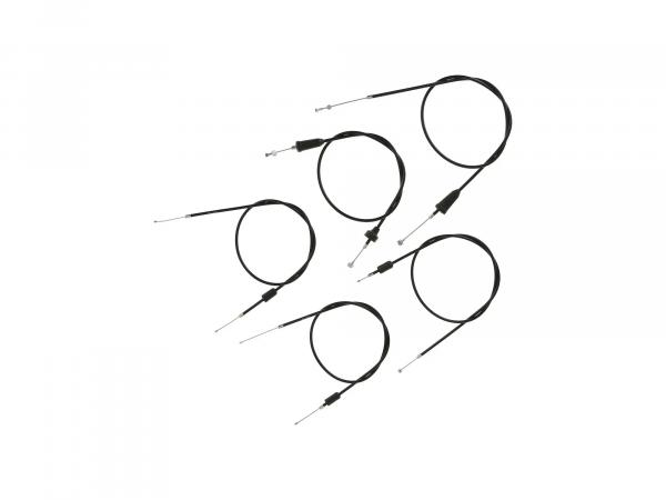 10069823 Set: 5 Bowdenzüge schwarz, Flachlenker - MZ TS 250, 250/1 - Bild 1