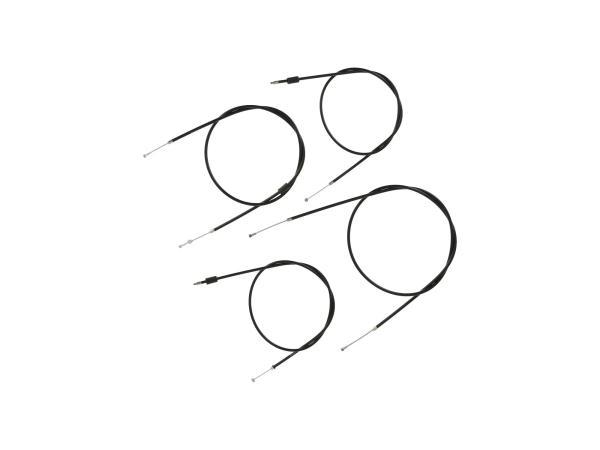 10070053 Bowdenzug-Set in Schwarz, Enduro + 100mm Überlänge - Simson S51, S70, S53, S83 - Bild 1