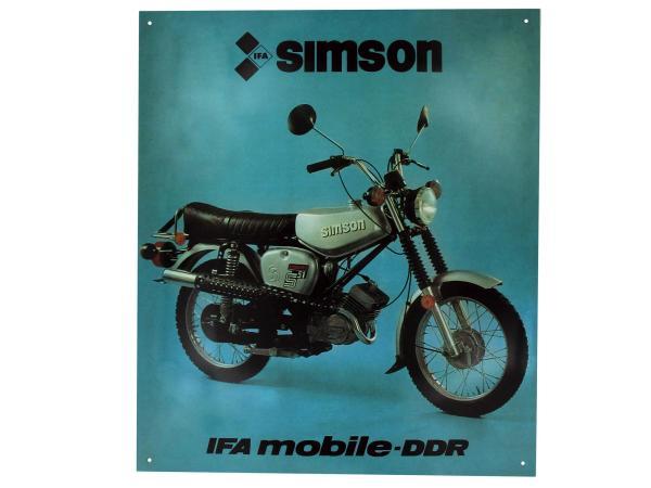 10044017 Blechschild - SIMSON S51E Enduro - Bild 1