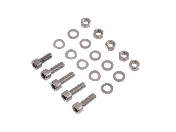 Set: Zylinderschrauben, Innensechskant in Edelstahl für Kotflügel/Schutzblech hinten S50, S51, S53, S70, S83