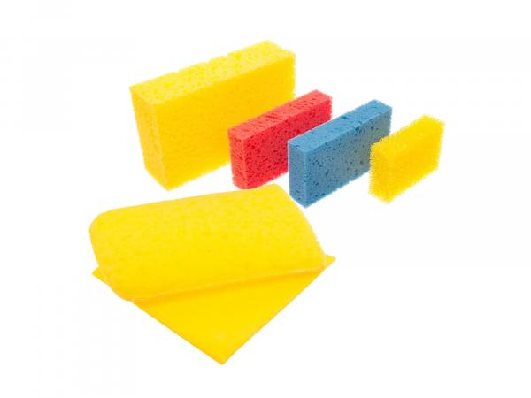 Procycle washing set with 6 different sponges