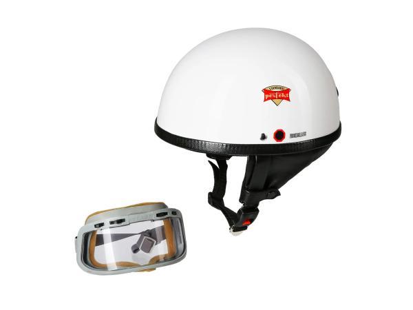 """10065330 SET: Schutzhelm """"PERFEKT"""" Modell P-500 weiß Gr. S (55-56cm) + """"START""""-Schutzbrille (DDR) - Bild 1"""