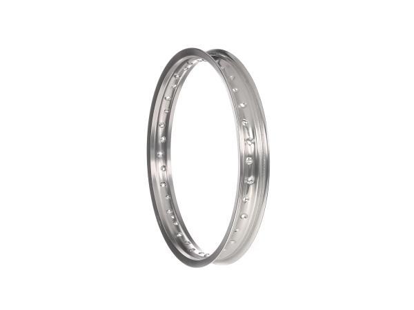 Felge - 1,85 x 18 Aluminium, Silber eloxiert