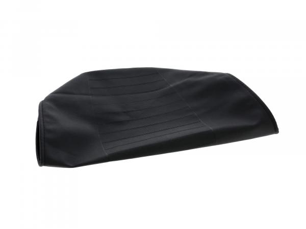 Seat cover structured, black, version with tool compartment - MZ TS250