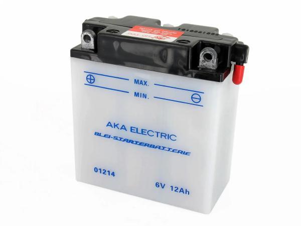 Batterie 6V 12Ah AKA (ohne Säure) - für Simson S50, S51, S70, S53, S83, SR50, SR80