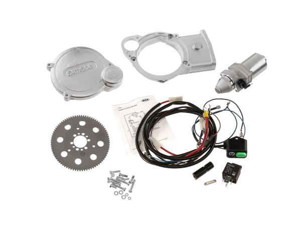 Set: Elektrostarter, Anlasser für PVL+ EMZA-Zündungen - Simson SR50, SR80, SD50