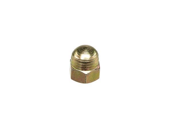 Sechskant-Hutmutter M6 Gelb-verzinkt - DIN1587