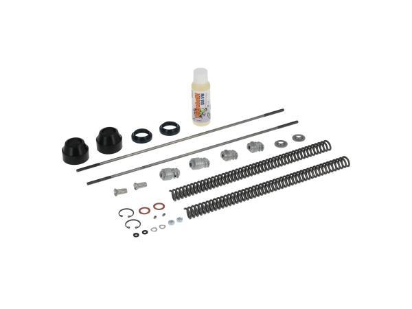 10067095 Set: Telegabel Reparatur komplett, verstärkte Druckfeder 3,4mm - für Simson SR50, SR80 - Bild 1