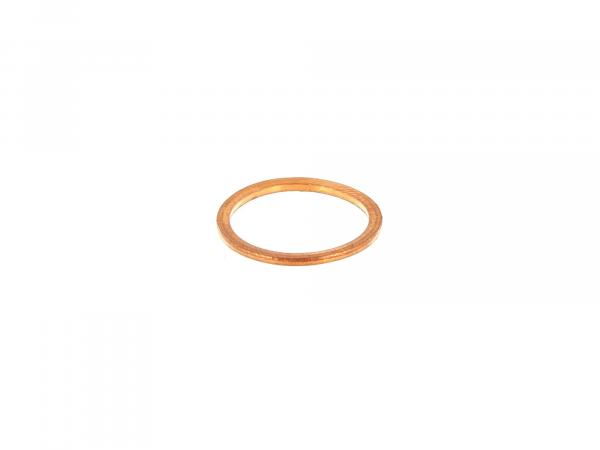 sealing ring Ø18x22 for oil drain plug, copper, solid - for Simson S50, KR51/1 Schwalbe, SR4-2 Star, SR4-3 Sperber, SR4-4 Habicht - MZ