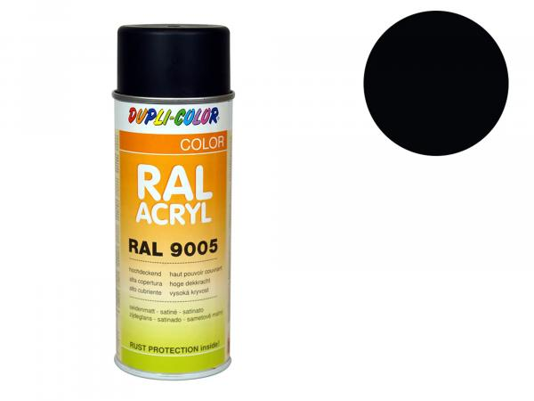 Dupli-Color Acryl-Spray RAL 9005 tiefschwarz, seidenmatt - 400 ml