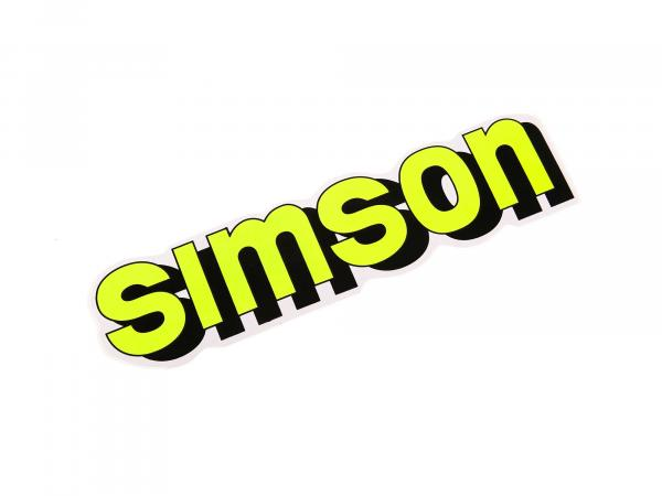 "Adhesive label ""SIMSON"" for tank in neon yellow"