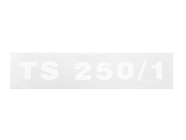 """Schriftzug (Folie) """"TS 250/1"""" chrom negativ für Seitendeckel - für MZ TS250/1"""