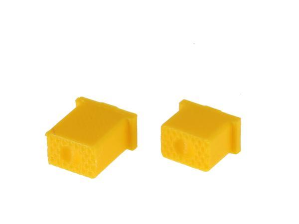 10069580 Set: Knopf für Hupe & Lichthupe 3D, Gelb, Doppeltaster - für S51, S70, SR50, SR80 - MZ ETZ - Bild 1