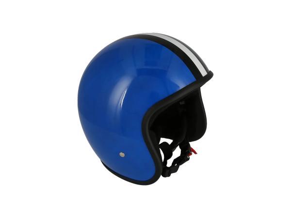 """K10000120 ARC Helm """"Modell A-611"""" Retrolook - Blau mit Streifen - Bild 1"""