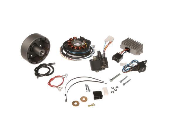 Lichtmagnetzündanlage 12V 180W mit integrierter vollelektronischer Zündung, passend für ES175/250/300 -/1/2, ETS250, TS250, 4Gang + TS250/1, 5Gang