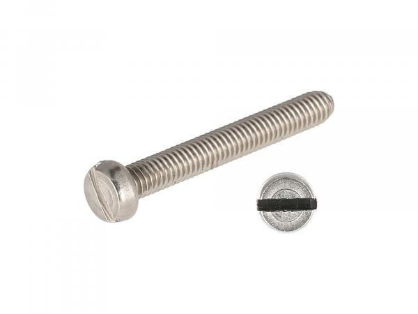 Slotted cheese head screw, stainless steel M4x30 - DIN84
