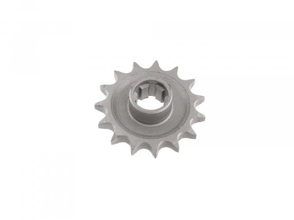 Drive pinion 15Z - chain wheel - pass. TS250, 250/1, ETZ 250, 251, 301 - e.g. for sidecar/ sidecar