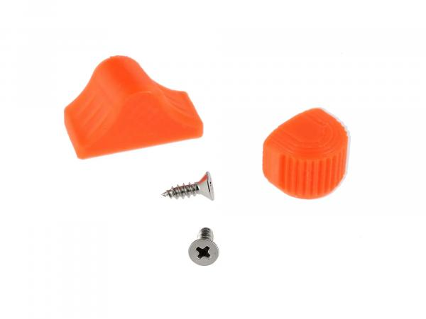 10069052 Set: Abblend- & Blinkerschalterknopf, Orange - für S51, S70, SR50, SR80, ETZ - Bild 1