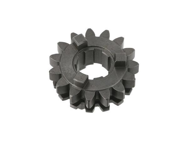 10070098 Schaltrad 15 Zahn (für 2. Gang) Motor M54 - für Simson SR4-3, SR4-4 - Bild 1