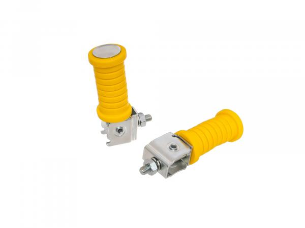 SET Passenger footrest left and right, zinc plated, yellow, ETZ