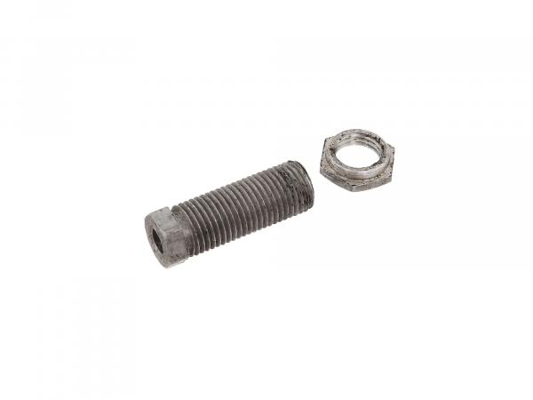 Adjusting screw + lock nut for clutch bowden cable - ES175, 175/1, 250, 250/1, 300
