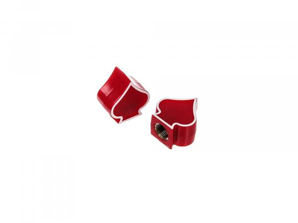 Set: 2x valve cap spade, red