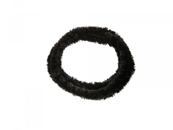 Hub cleaning rings WÜMA black/black (set 2x 76cm for moped, mokick)