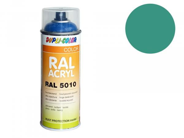 Dupli-Color Acrylic Spray RAL 5018 turquoise blue, glossy - 400 ml