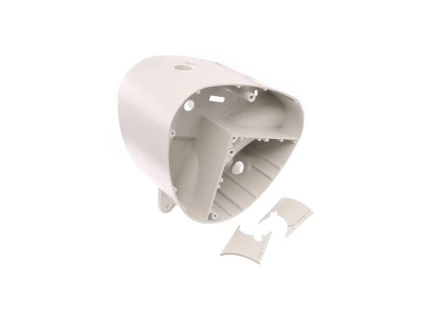 Gehäusemittelteil weißgrau, ohne Abdeckplatte - Simson S50, S51, S53, S70, S83