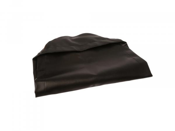 seat cover smooth, black, old form - for MZ ES125, ES150