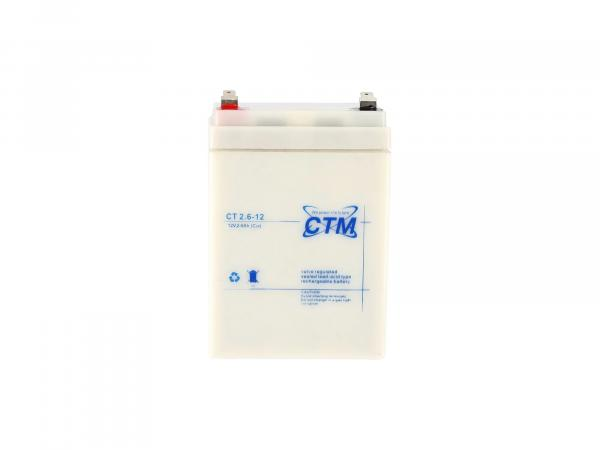 Batterie 12V 2,6Ah CTM (Vlies - wartungsfrei) - für Simson S51, KR51 Schwalbe, S70, SR50, SR80
