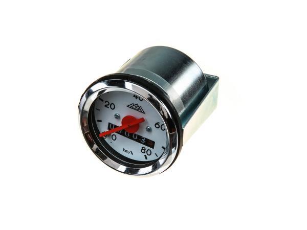 Tachometer Ø48mm bis 80 km/h - Simson KR51 Schwalbe, SR4-1 Spatz, SR4-2 Star, SR4-3 Sperber, SR4-4 Habicht