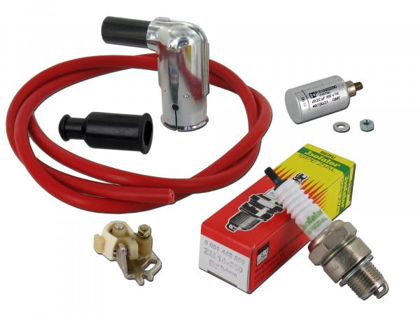Ignition set for Simson, cable red
