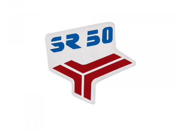 Adhesive foil - for leg plate in red/blue for SR50