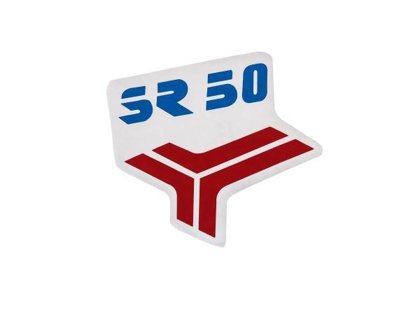 Klebefolie - für Beinblech in Rot/Blau für SR50