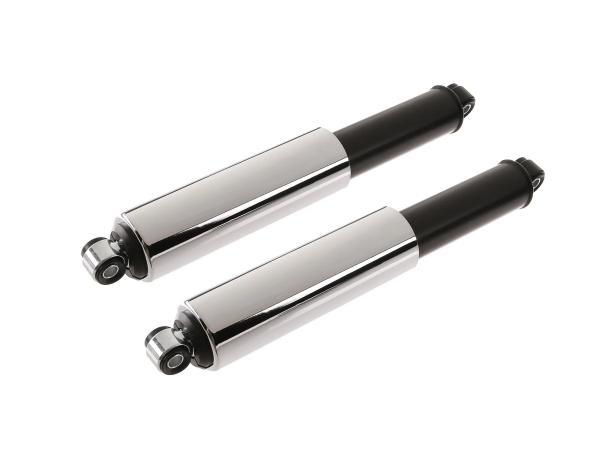 Set: Federbeine vorn, Tuning, 285mm, schwarz und Chromhülse - für Simson KR51 Schwalbe, SR4-2, SR4,3, SR4-4