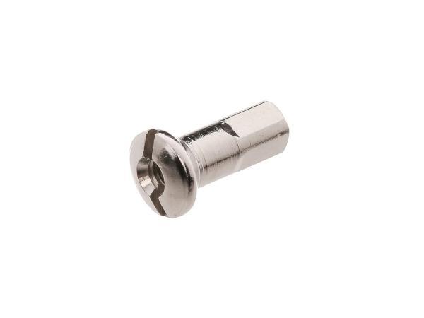 Speichennippel M4 in Edelstahloptik - für MZ ETZ, TS, ES, AWO, RT125, BK350, EMW R35