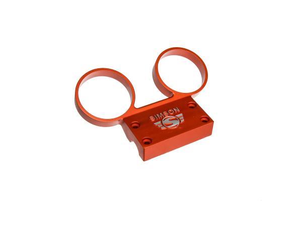 Armaturenträger für Tacho / DZM Ø60mm - Aluminium Orange