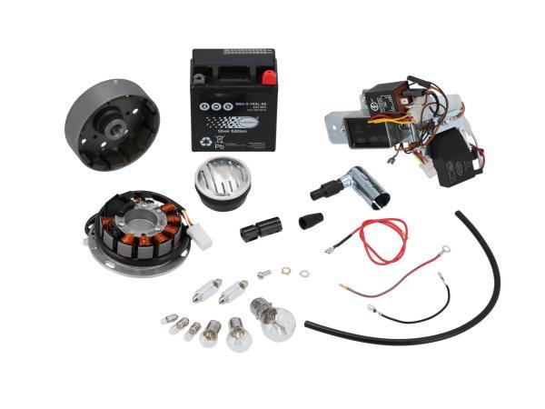 Set: Umrüstsatz VAPE auf 12V (mit Batterie, Hupe und Leuchtmittel) - Simson KR51/1 Schwalbe, KR51/2 Schwalbe