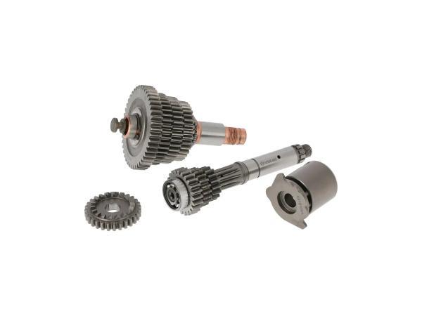 10039112 Set: Getriebe 4-Gang (lange Übersetzung) mit Schaltwalze - Simson SR80 - Bild 1