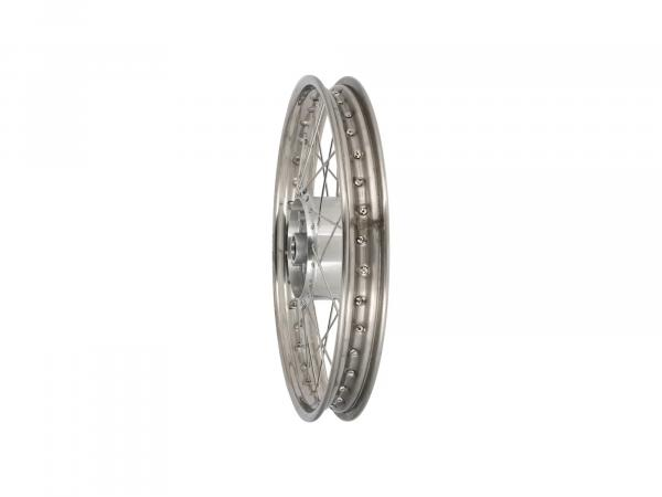 "Tuning spoke wheel 1.6 x 17"" stainless steel rim + stainless steel spokes - Simson S53, S83, MS50"