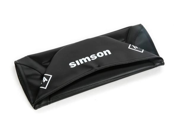 Sitzbezug strukturiert, schwarz für Endurositzbank mit SIMSON-Schriftzug - Simson S50, S51, S70 Enduro