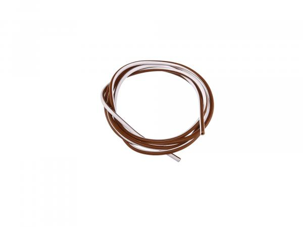 Cable - brown/white 1,5mm² Automotive cable - 1m